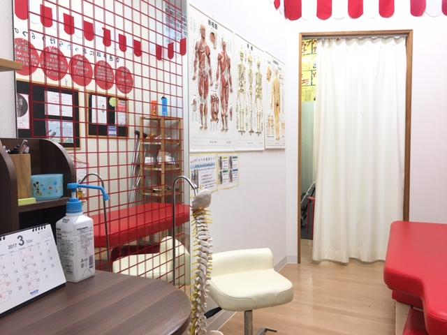 愛知県岡崎市のアームズ整骨院の施術部屋です