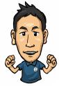 愛知県岡崎市のアームズ整骨院院長の似顔絵です